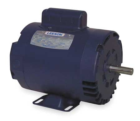 Leeson 110395.00 Rigid Base Special Voltage Motor, 1 Phase, 56 Frame, Rigid Mounting, 1/2HP, 1500 RPM, 110/220V Voltage, 50Hz Fequency
