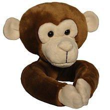 Curtain Critters Tieback Curtain Set of 2 - Plush Chocolate Brown Monkey Gift, Baby, NewBorn, Child