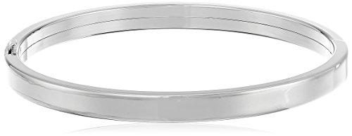 Sterling Silver Polished Hinged Bangle Bracelet