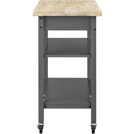 Mainstays Multi-Function Cart with Drawer and Adjustable Shelf (Gray)