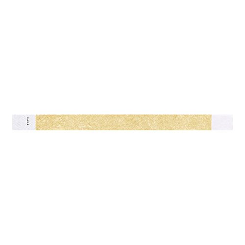 "Gold 3/4"" Tyvek Wristbands - 500 Pack Paper Wristbands For Events Photo #2"