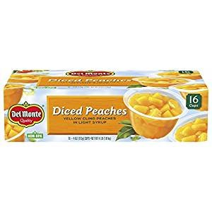 Del Monte Diced Peaches in Light Syrup, 16 pk./4 oz. by Del Monte