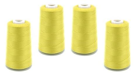 Schnoschi – Bobina de hilo de coser para máquina remalladora, 40/2 (120), 4570 metros, muchos colores, lima, 4 unidades: Amazon.es: Hogar