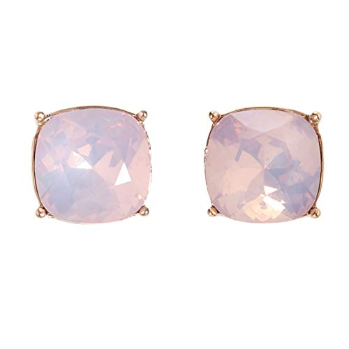 9dabb7861 Humble Chic Faceted Glitter Square Stud Earrings Cushion Cut Statement Post  Ear Studs