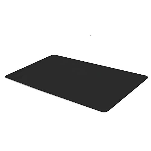 Office Desk Mat Black Textured - 47 x 23 Inch Plastic Computer Pad for ()
