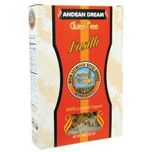 Organic Fusilli Quinoa Pasta Gluten Free 8 Ounces (Case of 12) by Andean Dream