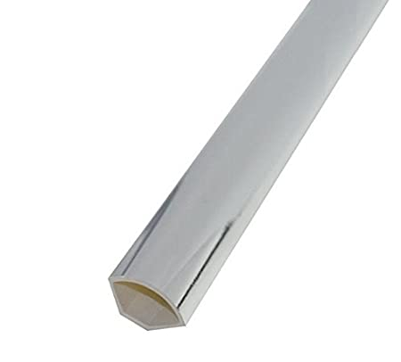 Decorative Cladding Finishing Bead Chrome Silver Quadrant Trim 1.5m x 5 Pack
