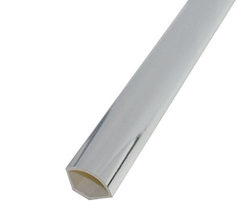 Chrome / Silver Quadrant / Internal Corner Trim - Decorative Cladding Finishing Bead - 1.25m Length - 5 Pack Eurocell