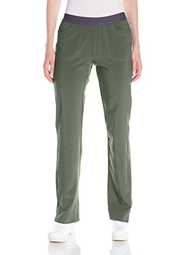 Cherokee Women's Infinity Low Rise Slim Pull-on Pant, Olive, X-Large