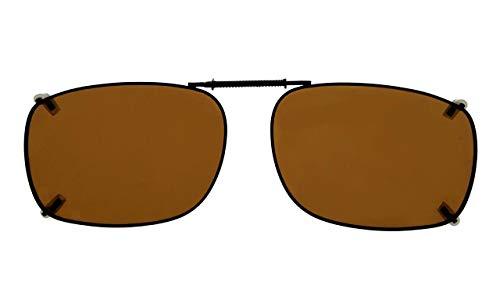 (Eyekepper Metal Frame Rim Polarized Lens Clip On Sunglasses 2 3/16