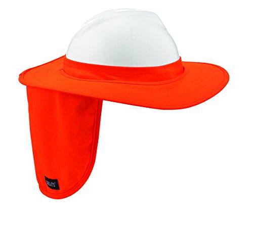 Ergodyne Chill-Its 6660 Attachable Hard Hat Brim with Neck Shade, Orange