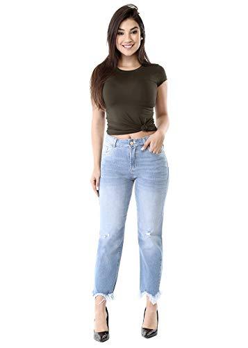 feminina Boyfriend Sawary Jeans Feminino