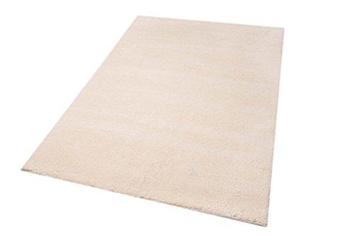Parwis Teppich Berber Simpel, reine Schurwolle, 120 x 180 cm, creme