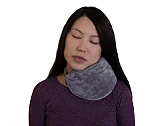 Super Soft Travel Pillow Plane, Car and Bus Trips. Unique Design Featuring Contoured shape, High Density Memory Foam and Plush Cover for the Best Head and Neck Support.