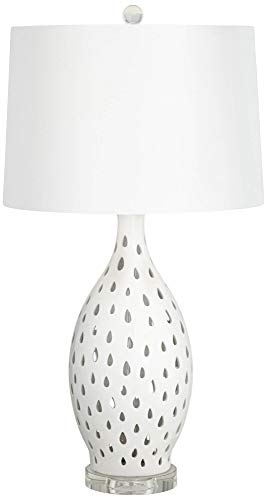 Kathy Ireland Coral Coast White Ceramic Table Lamp (Kathy Ireland Coral)