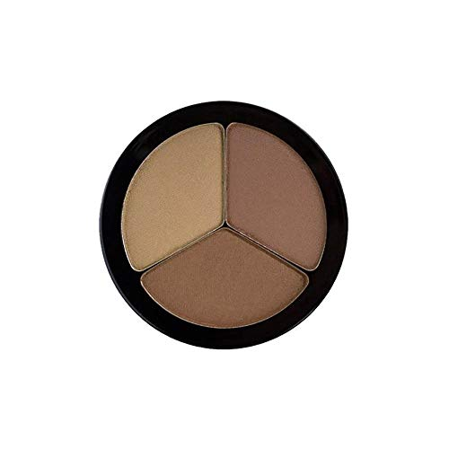 EMANI Vegan Cosmetics Trio Brow Colors 402, Blonde Brown, 0.14 Ounce