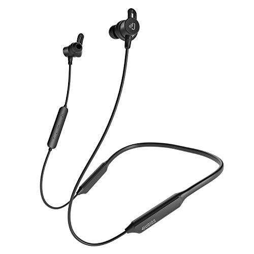 Dudios Neckband Bluetooth Earbuds, IPX7 Sweatproof Wireless Headphones apt-X Deep Bass(16 hrs Playtime, Built-in Magnetic, CVC6.0 Noise Cancellation) (Black)