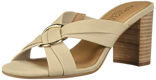 Aerosoles Women's HIGHWATER Heeled Sandal, Bone Nubuck, 6 W US
