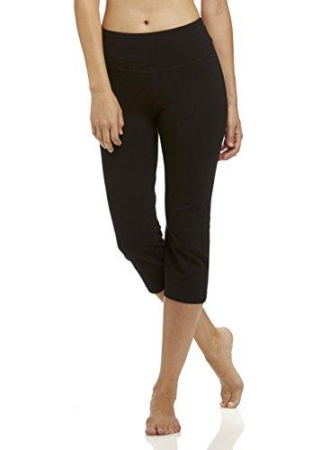 Marika Women's Standard Zoey Tummy Control Capris, Black Medium