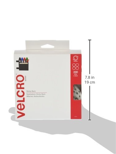 VELCRO Brand. Sticky Back Hook & Loop Fastener, 3/4'' Coins, 200 Sets, White (Limited Edition) by VELCRO Brand. (Image #4)