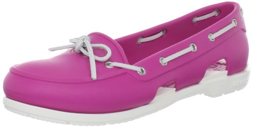 Crocs Beach Line, Women's Boat Shoes Fuschia/White