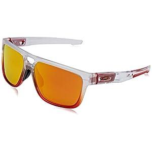OAKLEY Unisex Adults' Crossrange Sunglasses, Transparent (Patch Ruby Mist Prizm Ruby), 60