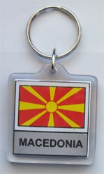 Macedonia - Country Lucite Key Rings (Lucite Rings Band)