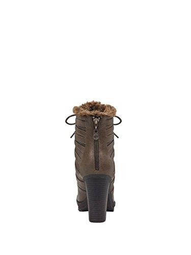 G Door Gissing Womens Gesturee Heeled Boots Donkergrijs