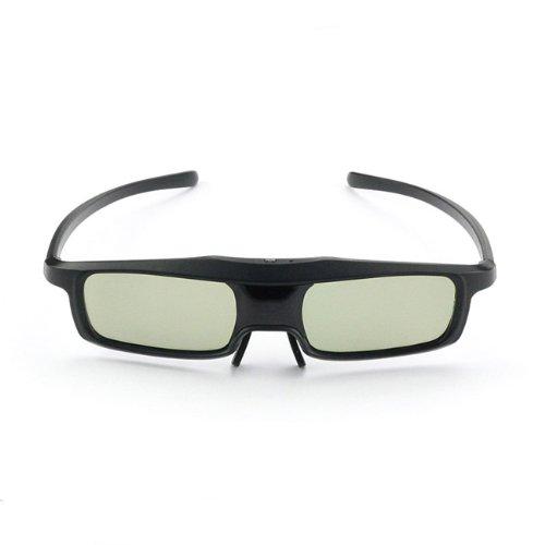 SainSonic Rainbow Series Economical Black Version UNIVERSAL 3D Rechargeable Infrared Active Shutter Glasses For Panasonic, Samsung, Sony, Sharp, LG, Toshiba, Philips 3D HDTVs!