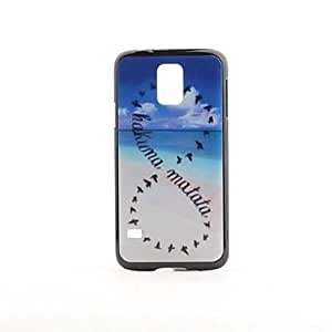 MOM Ocean Hakuna Matata Pattern PVC Back Case for Samsung Galaxy S5 i9600