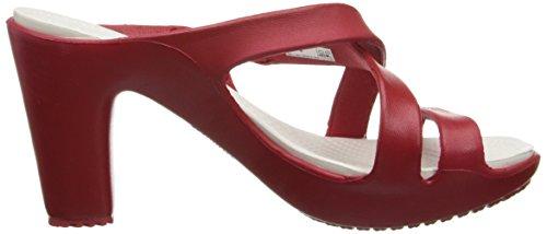 Crocs Cyprus IV Heel W 14558 Cyprus IV Heel - Zapatos de tacón para mujer, color marrón, talla 34.5 Rosso (Dark Red/Oyster)