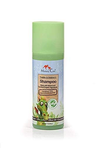 Certified Organic Toddlers & Children Shampoo 13.5 fl.oz Great for Dandruff Shampoo for Kids [SLS and Paraben Free] All Hair Types 400ml Shea Butter and Aloe Vera
