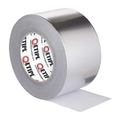ETI Aluminium Foil Adhesive Tape (72 mm X 20 m, Silver)