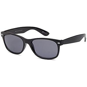 GAMMA RAY UV400 Classic Sunglasses Large - Grey Lens on Black Frame
