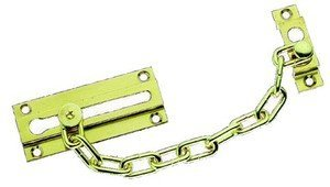 Solid Polished Brass Door Security Chain OriginalForgery