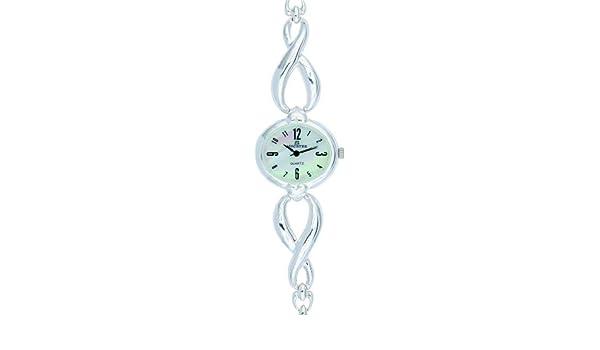 Minister Plata 7714 Reloj mujer de pulsera Plata: Minister: Amazon.es: Relojes
