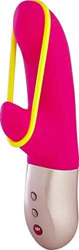Fun Factory AMORINO - Rabbit Mini Vibrator mit Stimulationsband, für Klitoris, G-Punkt & Schamlippen, Set mit Tasche + Gleitgel, körperfreundlich & wasserdicht (Rosa Set)