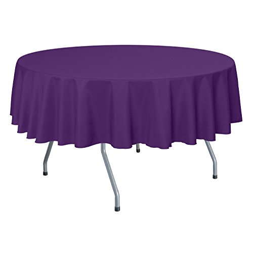 Ultimate Textile (40 Pack) 84-Inch Round Polyester Linen Tablecloth - for Wedding, Restaurant or Banquet use, Plum by Ultimate Textile