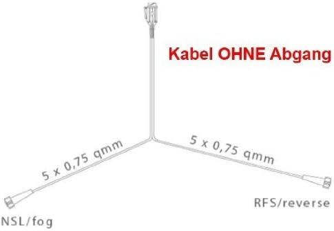 FKAnh/ängerteile Asp/öck Multipoint 4 Leuchtenset Hauptkabel 5 Meter RFS 13polig