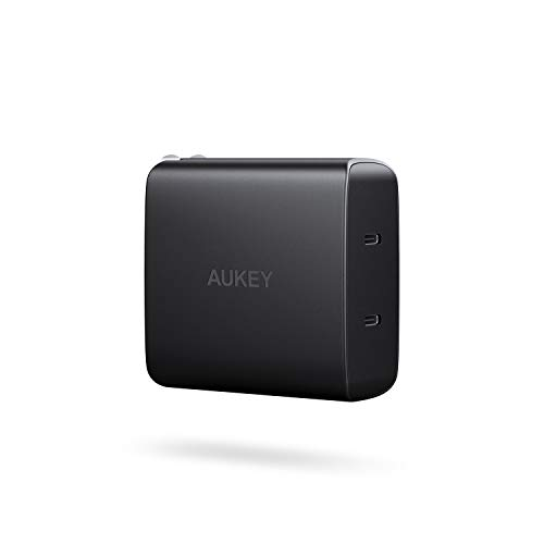 AUKEY USB C Charger with Dual 18W Power Delivery 3.0 Ports, 36W Wall Charger Compatible iPhone Xs/XS Max/XR, Samsung Galaxy S9+ and More