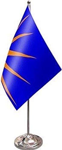 Ireland Irish Republic Sunburst Satin and Chrome Office Desk Table Flag ()