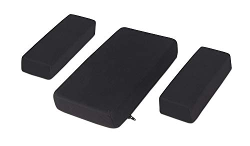 - Milliard Foam Car Armrest Cushion Pads, Soft Plush Side and Center Consoles All Seasons Universal (Black)