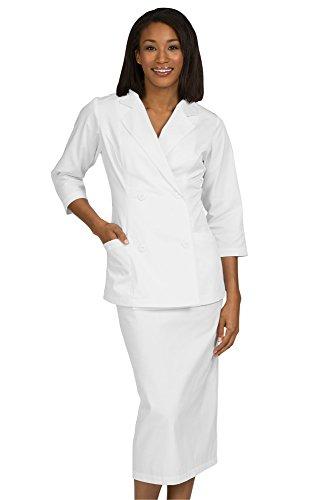 UPC 649639136942, Peaches Uniforms Women's Diana Two Piece Dress White