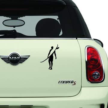 Surfing Sticker Black SK8/Surf/Snow/Water/Bike/Brands Automotive Decal/Bumper Sticker