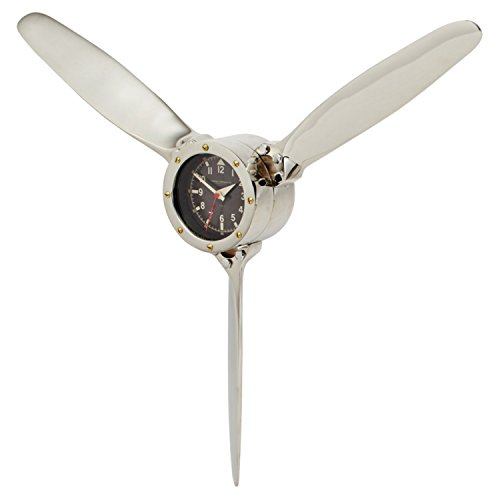 Air Plane Propeller Wall Clock - Cute wall art - Metal wall decor