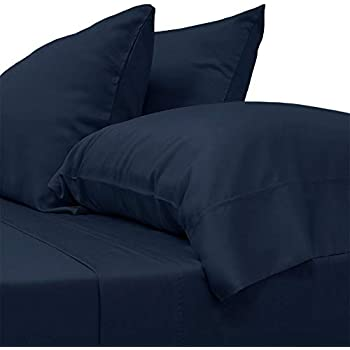 Cariloha Classic Bamboo Sheets 4 Piece Bed Sheet Set - Softest Bed Sheets and Pillow Cases (King, Bahama Blue)