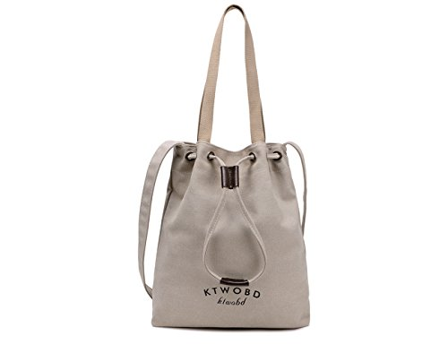 Shoulder Bags Women Handbag Durable Bag Canvas Portable Casual Tote Hobo White TSRHFGT Drawsting Bag R7dXq7w
