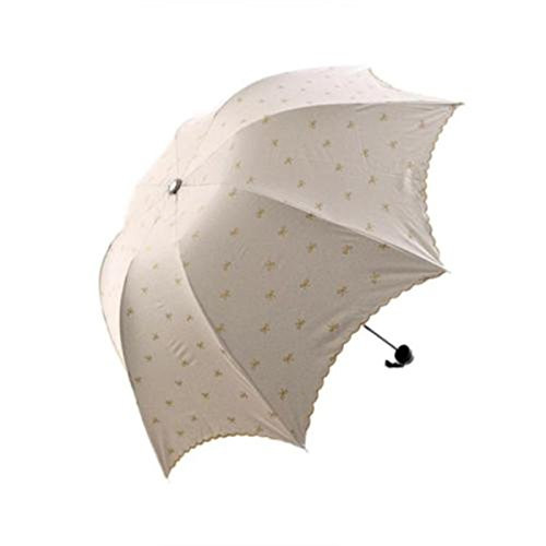 AMAZZANG-Lady Princess Lace Flowers Dome Parasol Sun/Rain Folding Umbrella Windproof - Meaning Spanish In Dolce