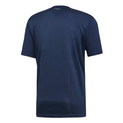 adidas Men's 3-Stripes Club Tennis Tee, Collegiate Navy/White, Small by adidas (Image #2)
