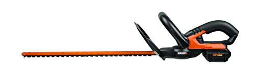 WORX 32V MaxLithium 20-Inch Cordless Hedge Trimmer with Dual-Action Cutting Blades – WG275 by Worx